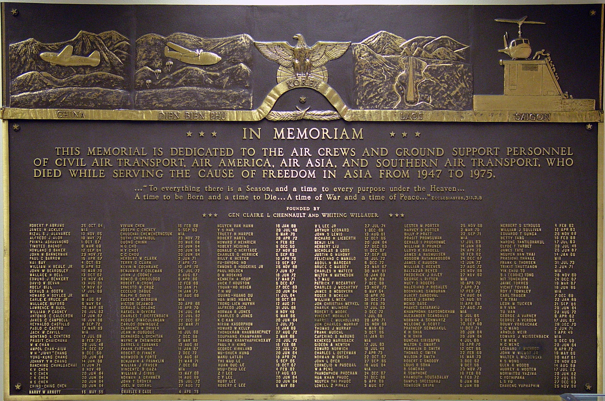 memorial plaque large